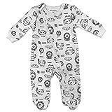 Fisher-Price Baby Boy's Sleeper Sleepwear, All Over Print, 6M White