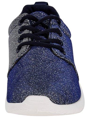 in oodji Scarpe da Blu Luccicante Materiale Donna 7900x Ginnastica Ultra qTX6xgFOvw