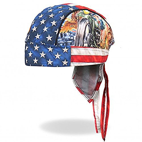 Authentic Bikers Premium Headwraps, UNCLE SAM RACER Micro-Fiber HEADWRAP (Biker Jacket Uncle Sam)