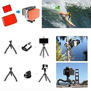 SmilePowo 42-in-1 Accessory Kit For Gopro Hero5 Black, Hero5 Session, Hero6 Black, Gopro Fusion, Hero4 Silver Black, Hero Session, Accessory Bundle Set For Gopro Hero3 Plus 3 2 1, SJ Cam Xiaomi