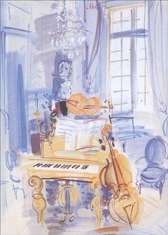 interieur-aux-instruments-de-musique-graphique-de-france-raoul-dufy-birthday-card