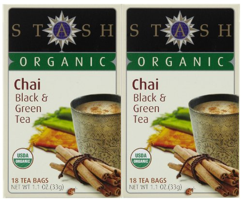 Stash Tea Organic Green Black Chai Tea, 18 ct, 2pk