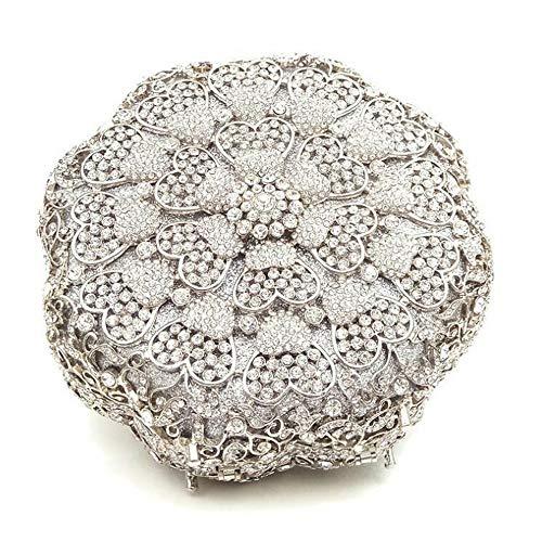 Rabbit Purse Lovely Satchel Bags Mini Gold Evening Women's Silver color Clutch Round Rhinestone Handbag Shoulder Wedding Party BSqqrXxd