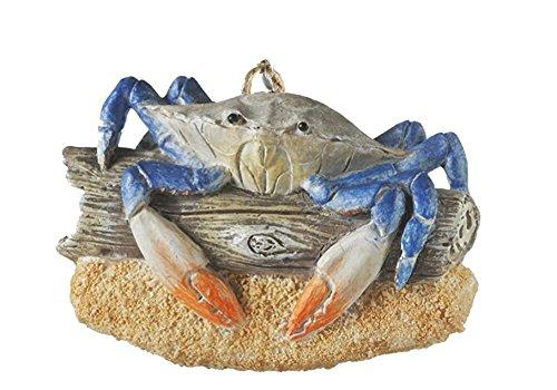 Crab on Driftwood Resin Hanging Christmas Ornament (Ornaments Christmas Driftwood)