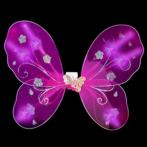 Fun Central O774, 1 Pc, LED Pink Butterfly Wings for Kids, Fairy Wings, Light up Wings, LED Fairy Wings, LED Butterfly Wings, Kids Butterfly Wings