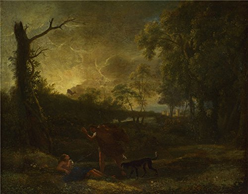 - 'Studio Of Claude Landscape With The Death Of Procris ' Oil Painting, 18 X 23 Inch / 46 X 59 Cm ,printed On High Quality Polyster Canvas ,this Replica Art DecorativePrints On Canvas Is Perfectly Suitalbe For Study Artwork And Home Gallery Art And Gifts