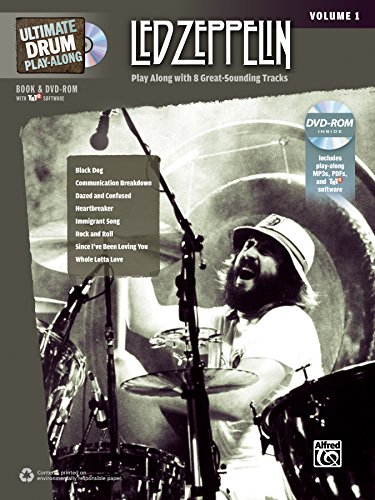 Ultimate Drum Play-Along Led Zeppelin, Vol 1: Play Along with 8 Great-Sounding Tracks (Authentic Drum), Book & 1 CD (Ultimate Play-Along)