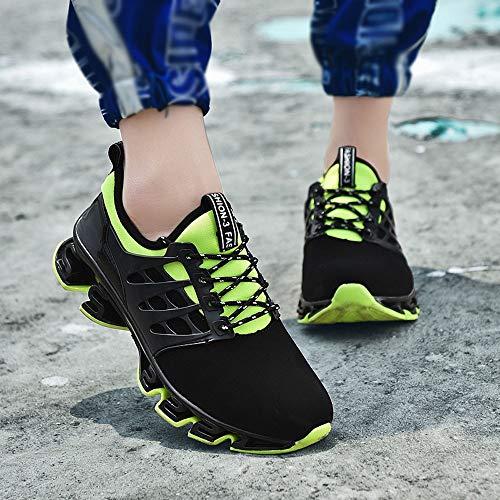 Estilo Punta Brogue Deportes Verde Cuadrado Los Aire Correr De Hombres Zapatillas Tejidos Zapatos Loafers Adecuado Volando Transpirables Casual Alikeey a7PpwCxnwq