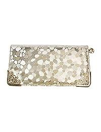 Fashion Story Women Wallet Envelope Purse Card Holder Mobile Bag Long Zip Handbag (gold)