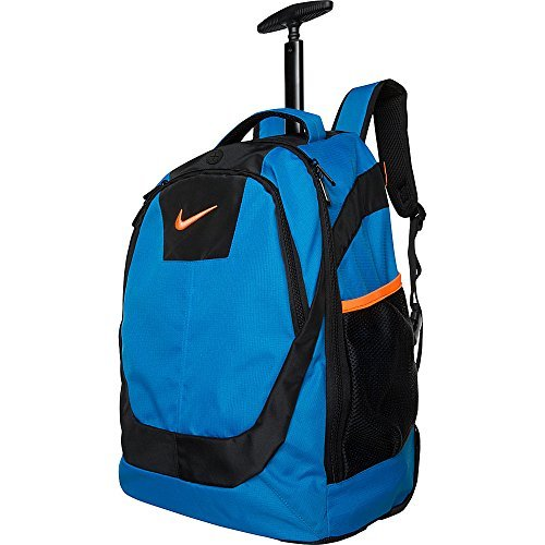 Nike College Bags (Nike Accessories Microfiber Core Rolling Backpack (Photo Blue))