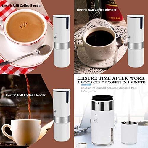 Machine à café, 2 en 1 capsule au sol Mini espresso Cafetière Portable, Portable Drip-Type Mini-Ménage voiture électrique Cafetière KNDTA