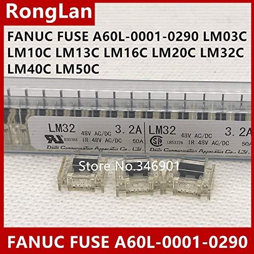 Davitu [SA]Original FANUC FANUC Fuse Fuse A60L-0001-0290 LM03 LM10 LM13 LM16 LM20 LM32 LM40 LM50-30pcs/lot - (Color: WHITE, AMP: LM50C 5.0A) ()