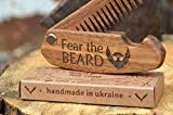 Beard-Comb-Wood-Folding-Pocket-Mustache-Hair-Gift-for-Him-Fathers-day-Brother-Boss-Friend-Birthday-Anniversary-covered-with-oil-wax-43x-12-By-Enjoy-The-Wood-great-with-beard-hair-Balm-and-Oil