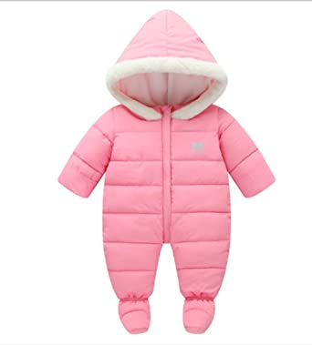 In Lovely Girls Winter Jumpsuit Baby Newborn Snowsuit Snow Wear Coats Boy Warm Romper 100% Down Cotton Girl Clothes Bodysuit Novel Design;