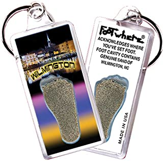 product image for Wilmington, NC FootWhere Souvenir Keychain. Made in USA (WLM105 - PM Riverwalk)