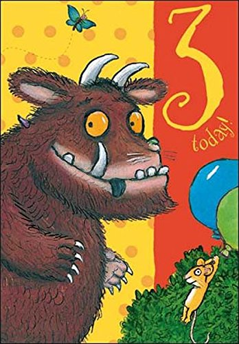 Amazon Com The Gruffalo Age 3 3rd Birthday Card Health Personal Care