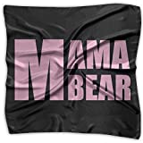 Mama Bear Mother's Day Gift Women's Fashion Print Square Scarf Neckerchief Headdress S