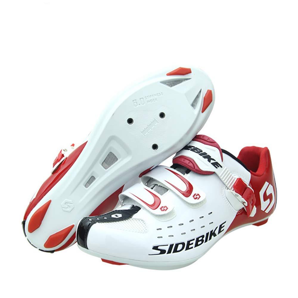 WeeLion Herrenschuhe, professionelle atmungsaktive Rennrad-Schuhe Rennrad-Schuhe (Bitte wählen Sie Sie Sie eine Größe größer als normal) weiß,45 55d387