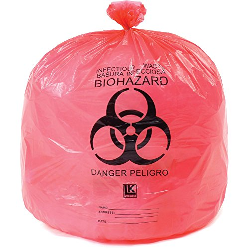 Elkay HD15RE 13 micron High-Density Infectious Waste Liner, 24
