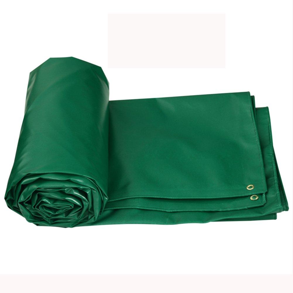 KKCF オーニング オーニング サンシェード オーニングシェード タープ  オーニング 日よけ PVC 厚い 防水 耐寒性 シェード 日焼け止め シェッド トラック キャノピー ふわふわ 屋外 リノリウム 520g/m²、厚さ0.5mm、5色 (色 : 濃い緑色, サイズ さいず : 4x3m) B07FX1B33L 4x3m|濃い緑色 濃い緑色 4x3m