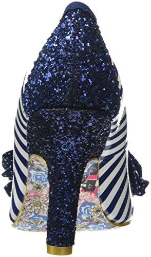Irregolari Ascot Blu Choice Chiuso punta Tacco Donne Delle blu Bianco rYxqYfC7