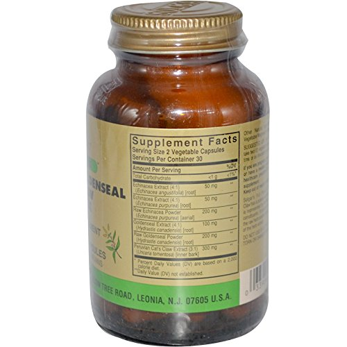 Solgar FP Echinacea/Goldenseal/Cat's Claw Complex Vegetable Capsules 60