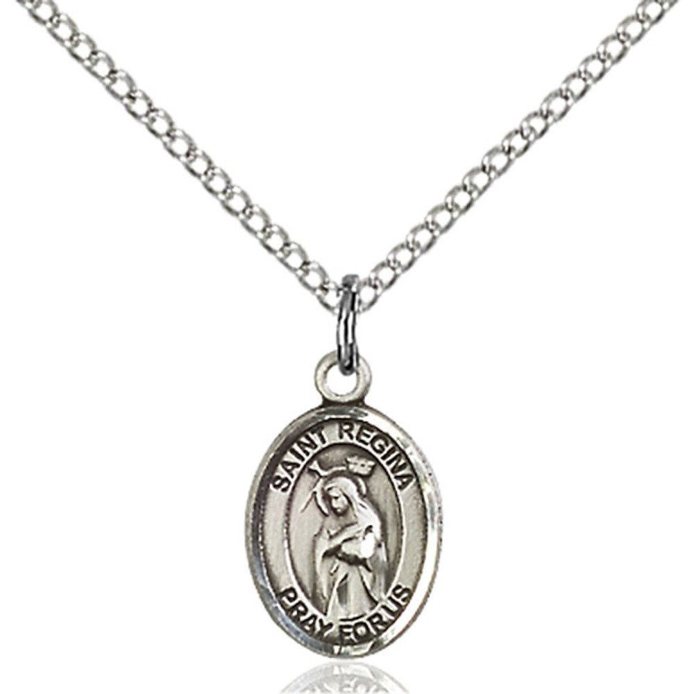 Regina Hand-Crafted Oval Medal Pendant in Sterling Silver Bonyak Jewelry St