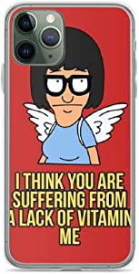 Gahifde Compatible with iPhone 11 Case Bob's Burgers Tina Angel Quotes Animated Series Pure Clear Phone Cases Cover
