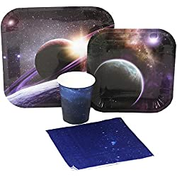 Blue Orchards Space Party Standard Party Packs (65+ Pieces 16 Guests!), Space Birthdays, Science Parties