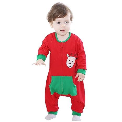 Vine Bebé Peleles Navidad Mameluco Ropa de Invierno Saco de dormir Trajes para Niños Niñas,