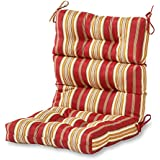 Greendale Home Fashions Indoor/Outdoor High Back Chair Cushion, Roma Stripe