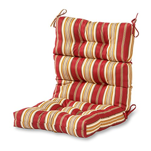 (Greendale Home Fashions Indoor/Outdoor High Back Chair Cushion, Roma Stripe)