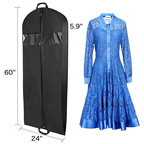 Breathable Suit Carrier Covers Bag Dress Garment Bag with Pockets Carry Handles Gusset and Shoe Bag for Traveling and Closet Organization, 152cm x 60cm x 15 ...
