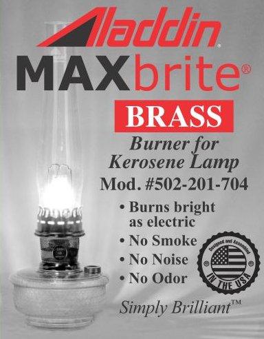 Aladdin Mantle MAXBRITE 502 Brass Burner