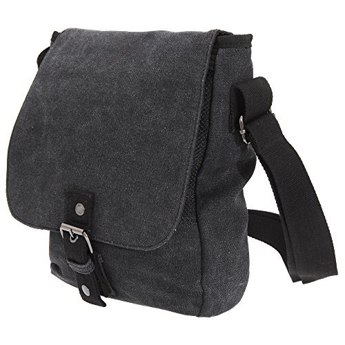 Quadra Vintage Canvas Ipad / Tablet Reporter Bag (5 Litres) Negro