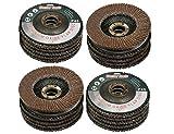 GHP 20-Pcs 4-1/2'' 180 Grit 13300RPM Resin Fiber Aluminum Oxide Sanding Flap Discs