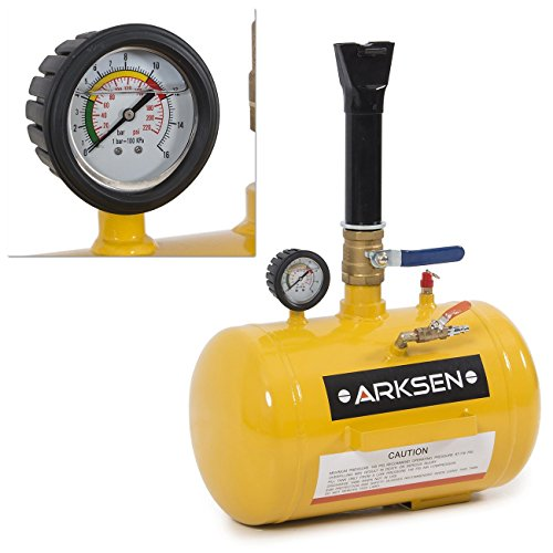 ARKSEN Tire Bead Seater Tool, 5-Gallon Capacity | 145 PSI Max Pressure, Yellow (Cheetah Tank)