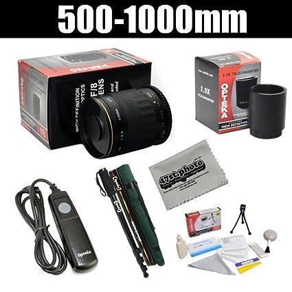 Opteka 500 - 1000 mm f/8 de Alta definición teleobjetivo con ...
