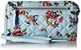 Vera Bradley Iconic Rfid Front Zip Wristlet, Signature Cotton, Water Bouquet