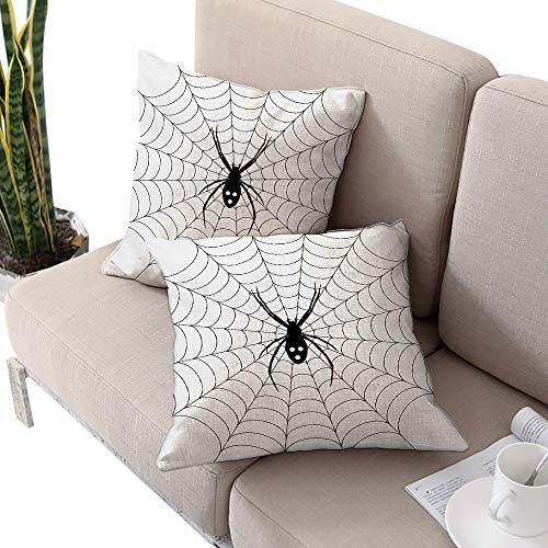 Alexandear Spider Web Square Lumbar Cushion Cover,Poisonous Bug