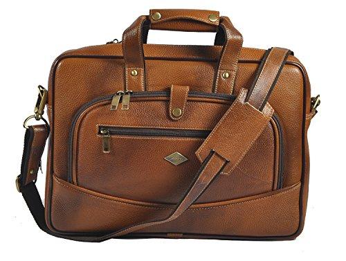 laveri auténtica maletín portátil Messenger de piel cruzado bolso bandolera 420 canela