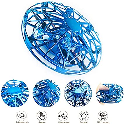 Mini  Flying Ball Toy Drones with Infrared Sensor /& 360° Rotating Gift for Kids