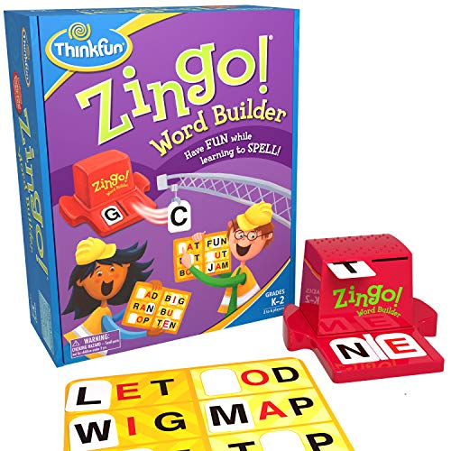 ThinkFun Zingo Word Builder Early Reading Game - Award Winning Game for Pre-Readers and Early Readers (2 Letter Words With U For Scrabble)
