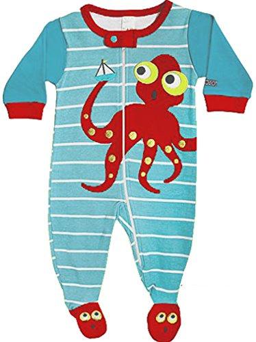 Long 100/% Cotton Baby Boy Jammies Cute Ninja Style Sozo Boys Pajama Set Size 18 Months