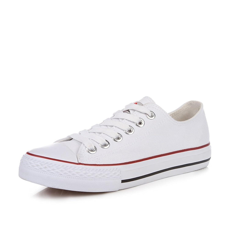 Klassischen Canvas Damenschuhe/Sommer Student Low-cut-Spitze Schuhe/Flache Damenschuhe-N Fußlänge=23.3CM(9.2Inch) 2lgvGSM