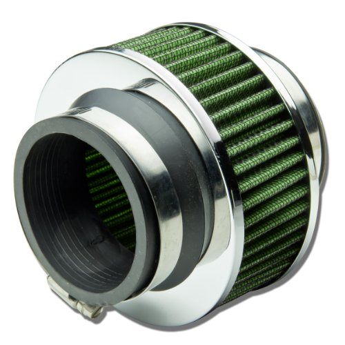 2.75 inches Inlet Universal Clamp-On Air Intake Bypass Valve Filter (Green)