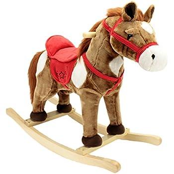 Melissa Doug Plush Rocking Horse Wooden Base And Handles