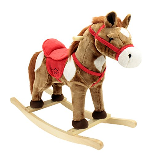 Horse Chair (Animal Adventure Rocking Horse Rocker, Ride-on, Chestnut, 28
