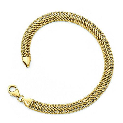 6,25mm Or 14carats-Bracelet Poli-20cm
