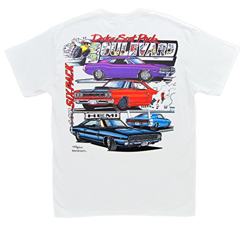 Hot Shirts Dodge Scat Pack Boulevard T-Shirt: 3XL Mopar Challenger R/T GTX Charger Super Bee Daytona (Six Dodge 440 Pack)